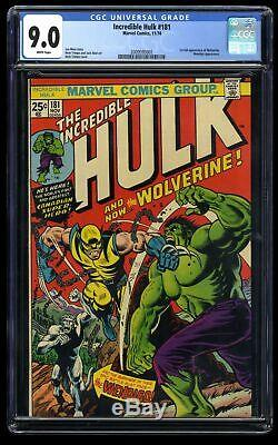 Incredible Hulk #181 CGC VF/NM 9.0 White Pages