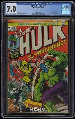 Incredible Hulk (1962) #181 CGC 7.0 Blue Label Off-White/White Pgs 1st Wolverine