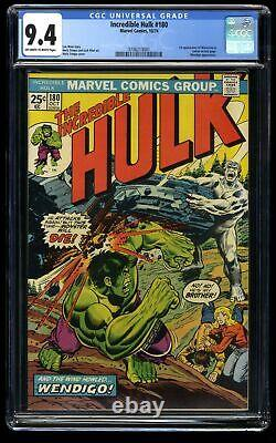 Incredible Hulk (1968) #180 CGC NM 9.4 Off White to White 1st Cameo Wolverine