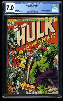 Incredible Hulk (1968) #181 CGC FN/VF 7.0 White Pages 1st Wolverine