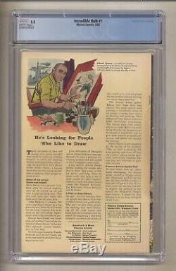 Incredible Hulk #1 (cgc 5.5) White Pgs Origin & 1st Hulk J. Kirby 1962 Marvel
