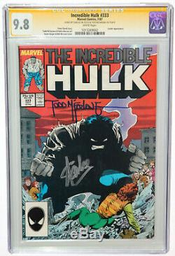 Incredible Hulk 333 Cgc 9.8 Ss Signed 2x Stan Lee & Todd Mcfarlane Art White Pgs