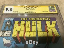 Incredible Hulk 340 CGC SS 9.0 Stan Lee Signed Todd McFarlane 1988 Cover White