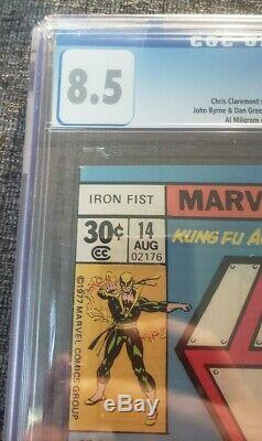 Iron Fist #14 CGC 8.5 1977 1st app. Sabretooth White Pages Rare