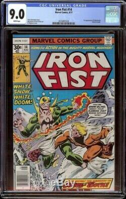 Iron Fist # 14 CGC 9.0 White (Marvel, 1977) 1st appearance of Sabretooth