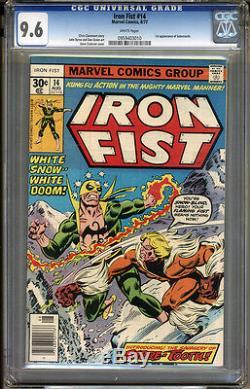 Iron Fist #14 CGC 9.6 NM+ WHITE Pages Universal CGC #0959403010