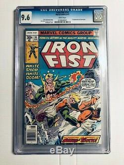 Iron Fist #14 CGC 9.6 WHITE PAGES 1st App SABERTOOTH Never Been Pressed