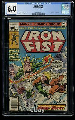 Iron Fist #14 CGC FN 6.0 White Pages 1st Sabretooth