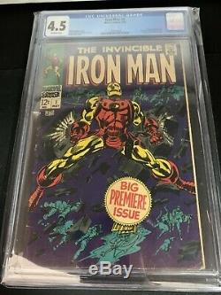 Iron Man 1 CGC 4.5 (1968) OFF WHITE PAGES