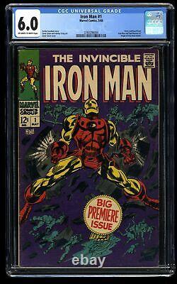 Iron Man #1 CGC FN 6.0 Off White to White Marvel Comics