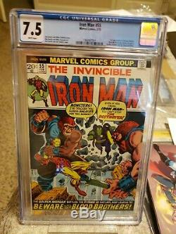 Iron Man #55 CGC 7.5 White Pages! 1st Appearance Of Thanos Avengers Endgame