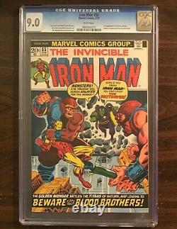 Iron Man #55 CGC 9.0 WHITE Pages 1st Appearance Thanos 1973