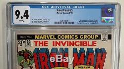Iron Man #55 Cgc 9.4feb 1973 Marvel1st App Thanos & Draxstarlinwhite