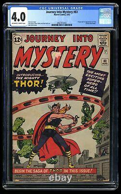 Journey Into Mystery #83 CGC VG 4.0 Off White to White 1st Thor
