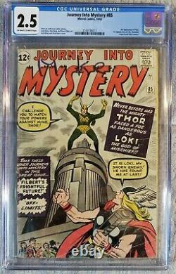 Journey Into Mystery #85 Cgc 2.5 Thor 1st Loki Odin Offwhite/white Pages