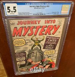 Journey Into Mystery #85 (Oct 1962, Marvel) CGC 5.5 1st Loki! White Pages