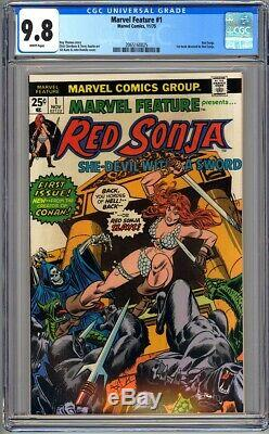 MARVEL FEATURE #1 CGC 9.8 WHITE 1st book dedicated to RED SONJA 1975