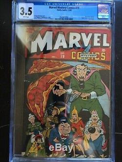 MARVEL MYSTERY COMICS #79 CGC VG- 3.5 White pg! Scarce! Super Villains begin