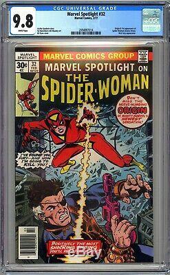 MARVEL SPOTLIGHT #32 CGC 9.8 WHITE NM/MT Origin 1st SPIDER-WOMAN Jessica Drew