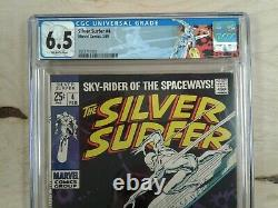 MARVEL The Silver Surfer 4 CGC 6.5/off white pages 1969