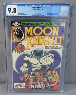 MOON KNIGHT #1 (Bushman 1st app, White Pages) CGC 9.8 NM/MT Marvel Comics 1980