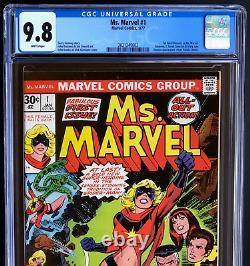 MS. MARVEL #1 (1977) CGC 9.8 WHITE PGs 1ST CAROL DANVERS AS MS MARVEL! KEY