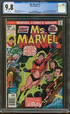 MS. MARVEL # 1 CGC 9.8 White Pages (MARVEL 1977) 1st CAROL DANVERS as MS. MARVEL