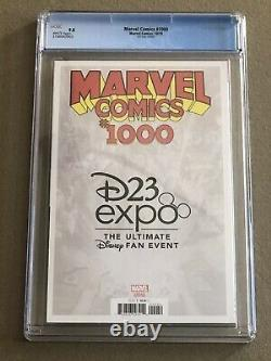 Marvel Comics # 1000 CGC 9.8 White Pages D23 Expo Variant Virgin Cover