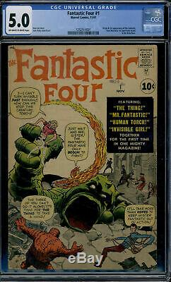 Marvel Comics Fantastic Four #1 CGC 5.0 Off White to White Pages CGC 5.0