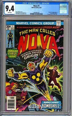 Marvel Comics NOVA #1 CGC 9.4 White NM 1976 1st Nova/Richard Rider