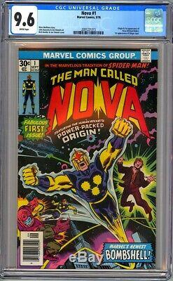 Marvel Comics NOVA #1 CGC 9.6 WHITE NM+ 1976 1st Nova/Richard Rider