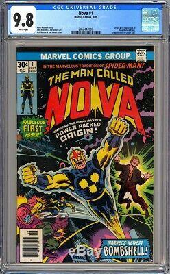 Marvel Comics NOVA #1 CGC 9.8 White pages NM/MT 1976 1st Nova/Richard Rider