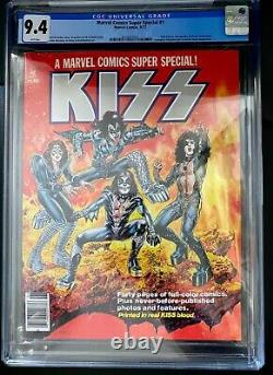 Marvel Comics Super Special #1 1977 CGC 9.4 KISS BLOOD! THE BEST WHITE PAGES