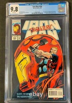 Marvel Iron Man #304 Cgc 9.8 Nm/mt White Pages! 1st Appearance Hulkbuster Armor