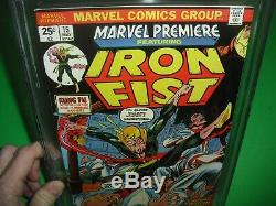 Marvel Premiere #15 CGC 9.0 with WHITE PAGES 1974! 1st app Iron Fist not CBCS