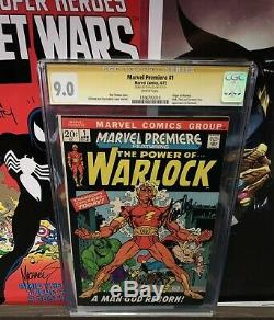 Marvel Premiere 1 CGC SS 9.0 White Pages Signed By Stan Lee 1st Adam Warlock