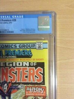 Marvel Premiere #28 CGC 9.0 White pages 1st appearance of Legion of Monsters