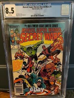 Marvel Secret Wars 1 CGC 8.5 Newsstand WHITE