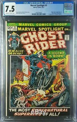 Marvel Spotlight #5 (1972) CGC 7.5 VF- OWithWhite 1st App Ghost Rider 2056787002