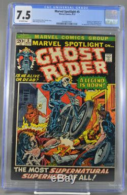 Marvel Spotlight #5 CGC 7.5 Off White Pages 1st Appearance Ghost Rider