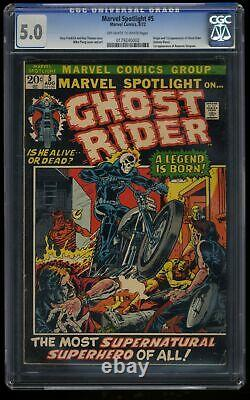 Marvel Spotlight #5 CGC VG/FN 5.0 Off White to White 1st Ghost Rider! Comics