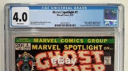 Marvel Spotlight #5 Cgc 4.01972 Marvelwhite Pages1st App. Of Ghost Rider
