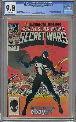 Marvel Super Heroes Secret Wars #8 Cgc 9.8 Origin Alien Symbiote White Pages