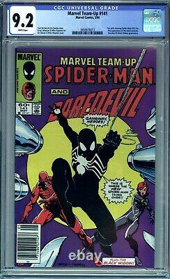 Marvel Team-up #141 Cgc 9.2 Nm- 1st Black Costume Newsstand Edition White Pages