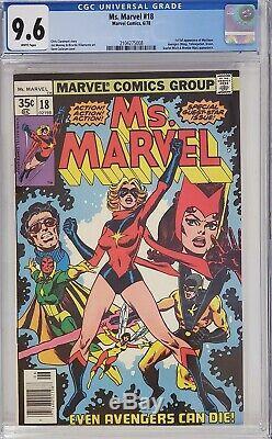 Ms. Marvel #18 Cgc 9.6 1st Mystique White Pages