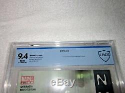NYX #3 CGC 9.4 NM X-23 1st appearance white pages Marvel comics