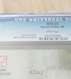 NYX #3 CGC 9.8 NM/MT X-23 1st APPEARANCE WHITE PAGES MARVEL COMICS