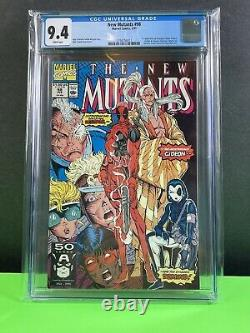 New Mutants #98 1st Appearance of Deadpool 1991 Marvel CGC 9.4 White Pages