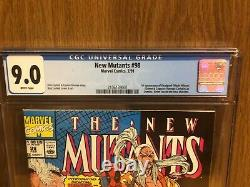 New Mutants #98 CGC 9.0 WHITE Pages First Appearance of Deadpool NEWSSTAND ED