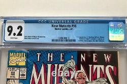 New Mutants #98 CGC 9.2 1st Appearance Deadpool Gideon Domino White Pages